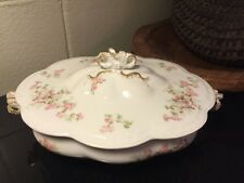 "Antique A. Lanternier Limoges 11 1/2"" Covered Dish, circa 1891-1914, 1 of 2"