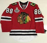PATRICK KANE CHICAGO BLACKHAWKS 2013 CUP REEBOK 7287A EDGE AUTHENTIC JERSEY