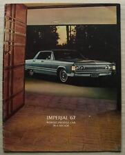 CHRYSLER IMPERIAL LF USA Car Sales Brochure 1967 Crown CVT SEDAN LeBaron HARDTOP