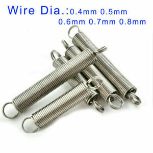 10pcs Small Double Loop Springs Extension Expanding Spring 304 Stainless Steel