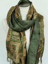 FOULARD ECHARPE 100% pure SOIE - INDE étole silk pashmina scarf châle shawl  26 7af5acdb820