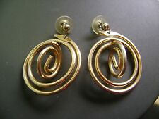 Dangley Pierced Earrings Retro Circle Gold Tone