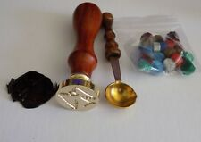 Wax Stamp kit. Buffy. Angel Investigations logo. Seal, wax, handle and spoon