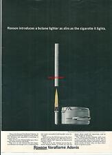 Publicité 1965 Lighter RONSON cigarette advertising briquet tabac