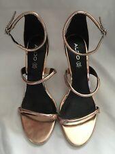 Aldo Rose Gold Heeled Sandal Size UK 7 (40) RRP £70