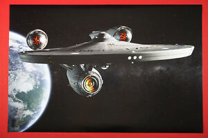 The Star Trek U.S.S. Enterprise NCC-1701 Starship Space Poster 24X36 NEW   ENCC