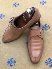 John Lobb Mens Tan Brown Leather Loafers Shoes UK 11 US 12 EU 45 Bourne