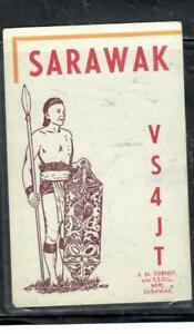 SARAWAK COVER (P1608B) QSL CARD FROM MIRI SARAWAK  MOST UNUSUAL