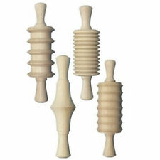 Wooden Clay Rolling Pins - 4 Pieces Assortment