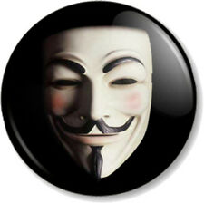 V for Vendetta Mask 25mm Pin Button Badge Guy Fawkes Political Anarchist Movie