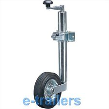 48mm JOCKEY WHEEL & CLAMP - TRAILER CARAVAN BOAT GOOD QUALITY FOR GENERAL USE