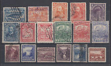 Newfoundland Sc 54/143 used 1887-1927 issues, 17 different singles F-VF