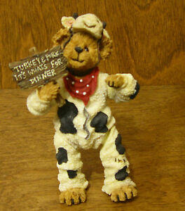 Boyds Shoebox Bears #3230 Angus Bearger...Quit Your Beefin',  Jointed NEW/Box
