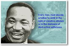 "Martin Luther King  - ""Every man must decide.. - POSTER"