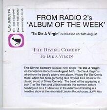 (CB207) The Divine Comedy, To Die A Virgin - 2006 DJ CD
