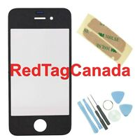 Front Screen Glass Lens Only + Tools for Apple iPhone 4 4G Black - Canada