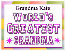 PERSONALIZED WORLDS GREATEST GRANDMA GRANDMOTHER MAGNET