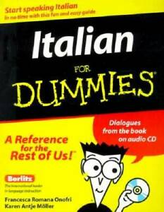 Italian for Dummies (With Audio CD) - Paperback - VERY GOOD