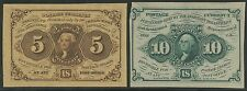 Fr1231Sp & Fr1243Sp 5¢ & 10¢ Proofs First Issue Fractional Currency Bs9399