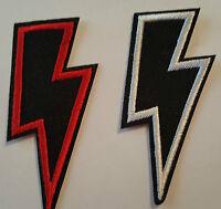 2 x Lightning Bolts Iron on Patch Brand New Sew on Patch - Fancy Dress