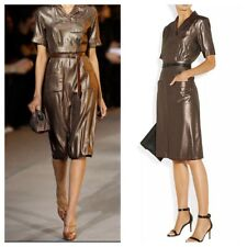 MARC JACOBS Runway Houndstooth Silk Lamé Shirt Dress  6, $1500 NWT Net-a-Porter
