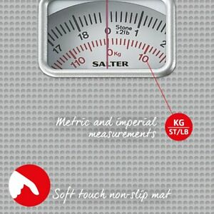Salter Compact Mechanical Bathroom Scales - Silver