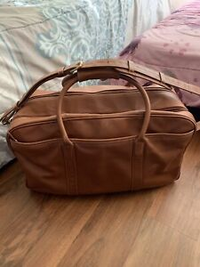 Coach Men's Weekender Cabin Leather Travel Gloved Tanned Duffle Bag