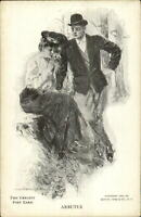 Beautiful Woman Howard Chandler Christy Private Mailing Card ARBUTUS