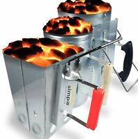 SIMPA Chimney Starter Barbecue BBQ Charcoal Grill Steel Rapid Quick Fire Lighter