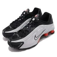 Nike Shox R4 Black Metallic Silver Max Orange Men Retro Running Shoes BV1111-008