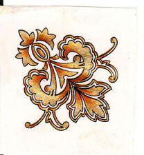 Vintage varnish-fix decals/trfs for sewing m/cs or as decoration.Sold as set of4