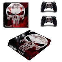 Playstation PS4 Slim Aufkleber The Punisher Skin Sticker Folie Schutz Faceplate