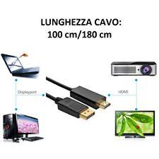 Cavo Adattatore DisplayPort HDMI 1080P Convertitore HDTV Monitor Proiettori