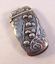 Lily Of The Valley-Whiting Sterling Match Safe