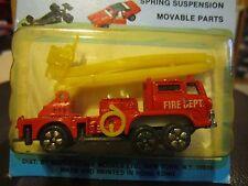 Vintage PlayArt Charmerz Hino Snorkel Fire Engine Truck 1:64 Hong Kong MOC