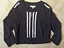 Womens Black Striped Nicki Minaj Juniors Size XL Sweater bx16