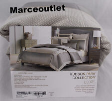 Hudson Park Collection Luxe Greenwich KING Duvet Cover Charcoal Gray