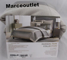Hudson Park Collection Luxe Greenwich FULL / QUEEN Duvet Cover Charcoal Gray