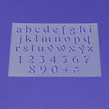 Schablone Wandschablone Buchstaben Satz a - z Klein Alphabet a bis z - ME31