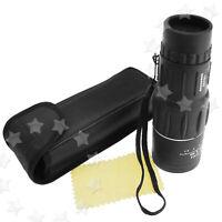 Portable Monocular Telescope Dual Focus Zoom Night Vision 16x Magnification