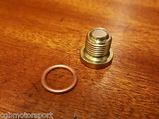 RENAULT 5 GT TURBO NEW OIL SUMP MAGNETIC PLUG AND COPPER WASHER