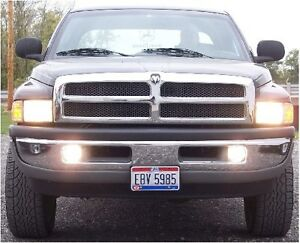 94 01 DODGE RAM TRUCK HIGH BEAM FOG LIGHT KIT 95 96 97 98 99 00 01 Non Sport