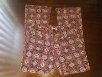Tommy Jeans Sz 11 Vintage VTG Hilfiger Multi-Color Corduroy Womens Flare Jeans