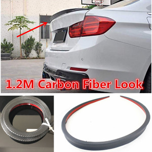 Universal Carbon Fiber Look Car Rear Roof Trunk Spoiler Rear Wing Lip Trim 1.2M