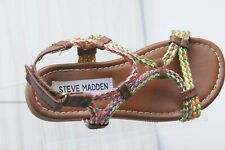 Steve Madden Girls Sandals Size 11 Strappy multicolored