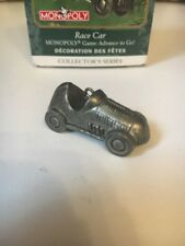 Fine Pewter Monopoly Race Car Hallmark Christmas Tree Ornament New In Box