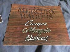 1977 Mercury Marquis Colony Park Bobcat and Cougar Color Brochure Prospekt