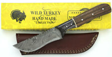 Wild Turkey Handmade Damascus Steel Collection Full Tang Fixed Blade Knife