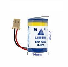 10pcs PLC Battery for KTS ER14250 3.6V 1/2AA for Delta DVP-32EH with plug