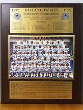 1977 DALLAS  COWBOYS SUPER BOWL XII COMMEMORATIVE WOODEN  PLAQUE